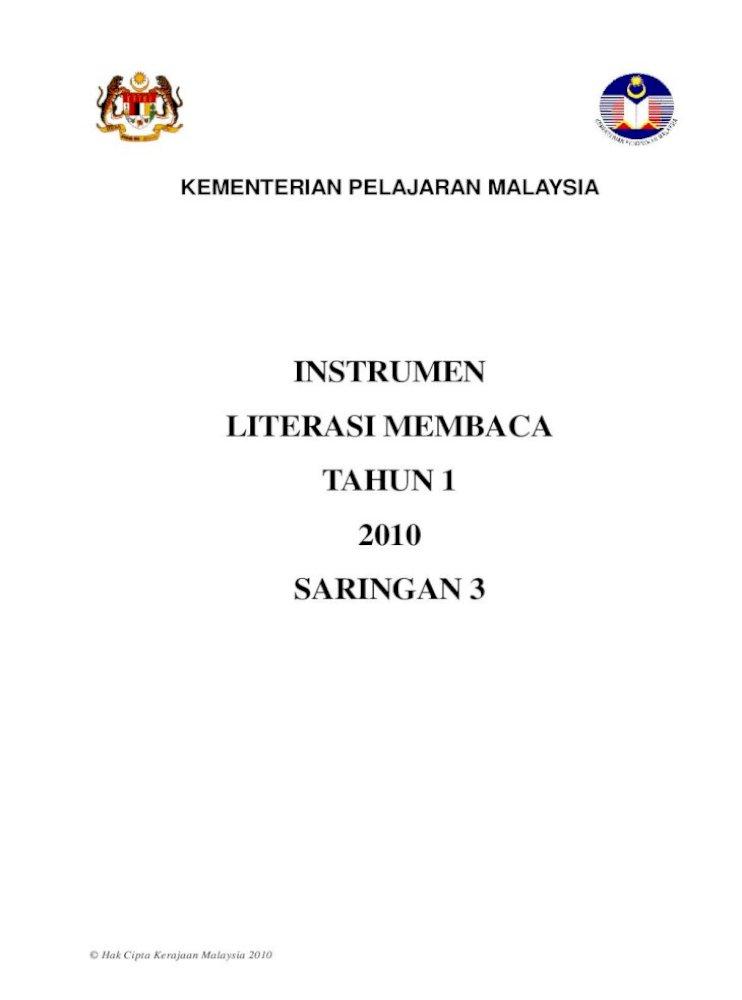 2010 Bahasa Melayu Tahun 1 Linus Literasi Membaca Pdf Document