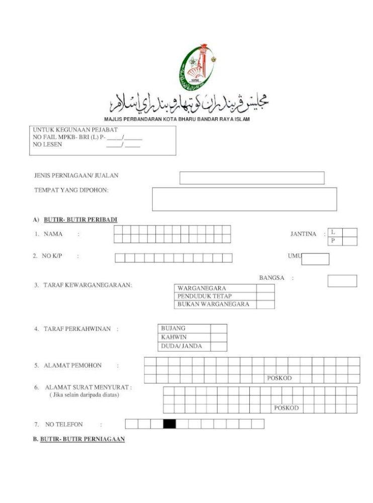 Majlis Perbandaran Kota Bharu Bandar Raya Helai Sepanduk Tuan Puan Pada Dan Pihak Tuan Puan Dikenakan Pdf Document