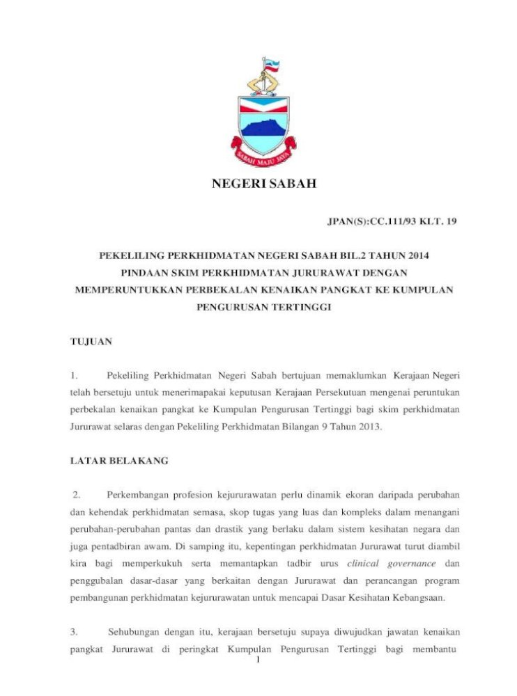 Pindaan Skim Perkhidmatan Jururawat Dengan Jururawat Di Bawah Pekeliling Perkhidmatan Bilangan 9 Pdf Document