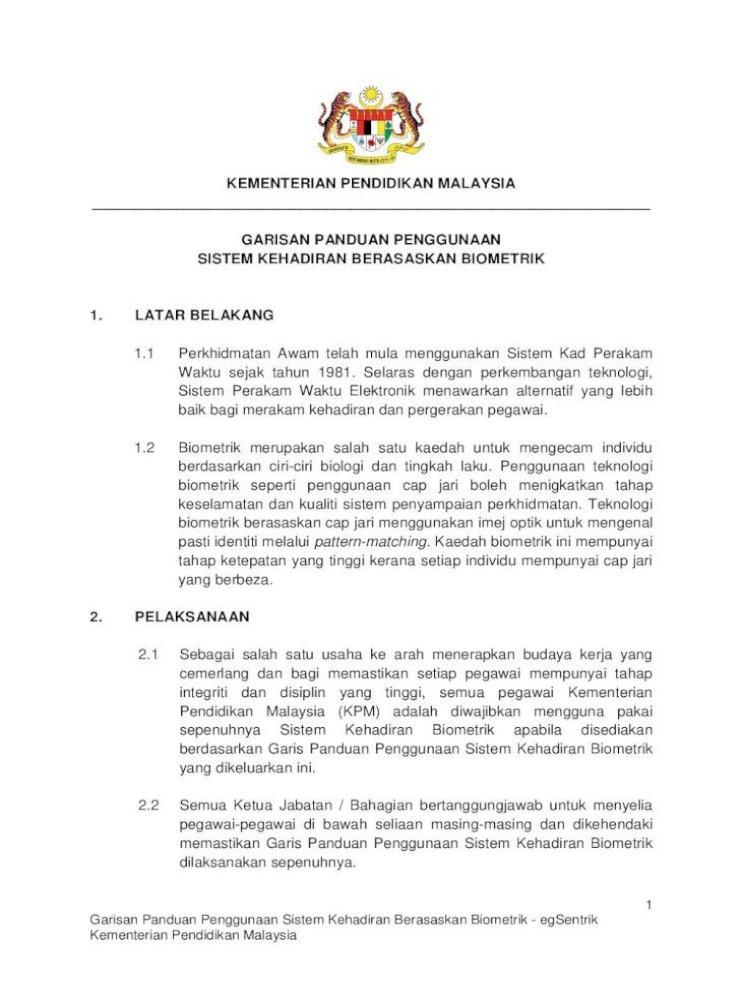 Kementerian Pendidikan Malaysia 1 Latar Belakang