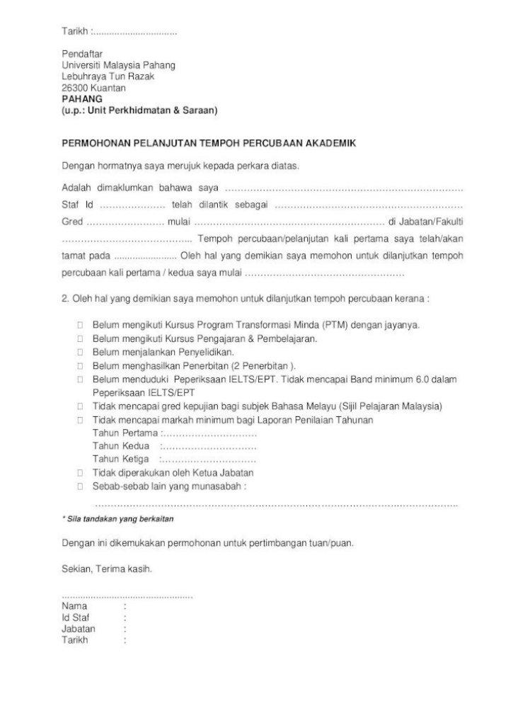 Panduan Pelanjutan Tempoh Percubaan Akademik Perlanjutan Tersebut Gagal Memenuhi Semua Syarat Pdf Document